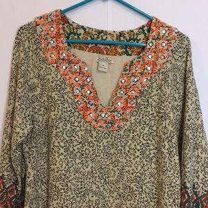 "Lucky Brand Tunic ""Dashiki"" Size medium"